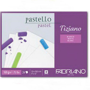 Альбом д/пастели 23х30,5см Tiziano  160 г 24 л./белый