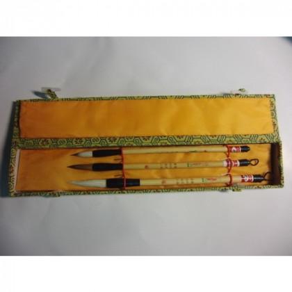 Набор  из 3-х бамбуковых кистей д/каллиграфии