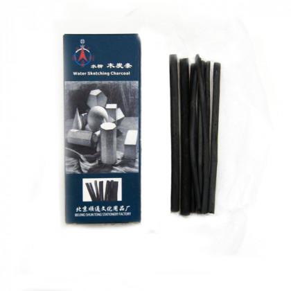 Уголь рисовальный 4-6 мм (карт .уп)  12 см/8 шт