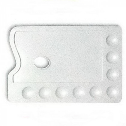 Палитра пластиковая плоская   19х28 см.