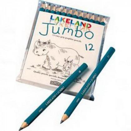 """Набор  графит. карандашей для детей""""Lakeland Jumbo"""" /12 шт в блистере"""
