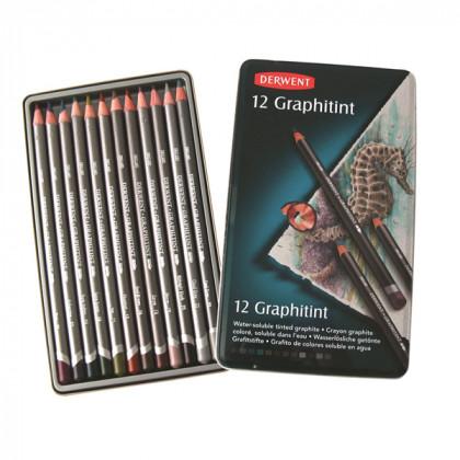 Набор аква-графитных карандашей Graphitint/ 12шт в мет. кор.