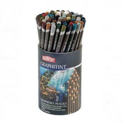 Набор  аква-графитных карандашей Graphitint в тубусе (72шт)