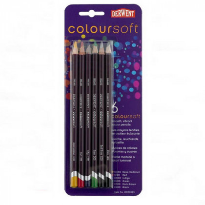 """Набор  цветных карандашей  """"Coloursoft""""  /6цв.в блистере"""