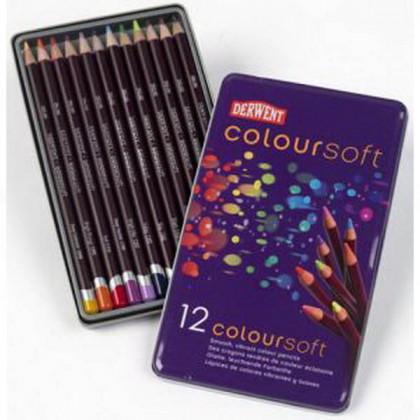 """Набор  цветных карандашей  """"Coloursoft""""  /12цв.в мет.кор."""