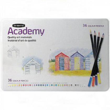 """Набор  цветных карандашей """"Academy"""" 36 цветов в метал.коробке"""