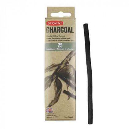 Уголь ивовый Willow Charcoal / тонкий 2-3мм/ 25 шт.