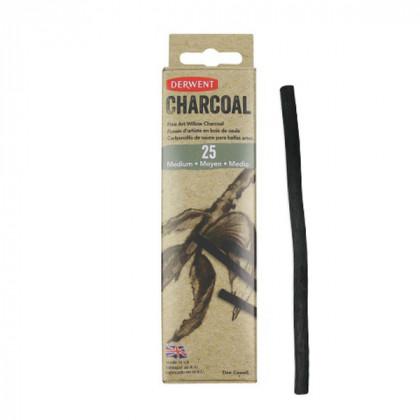 Уголь ивовый Willow Charcoal /средний 4-6мм/ 25 шт.