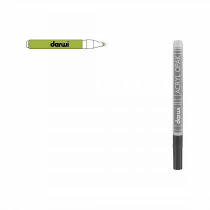 Зеленый прочный. Акриловый маркер DARWI Acryl Opak 1мм
