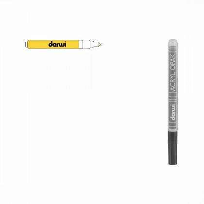Желтый. Акриловый маркер DARWI Acryl Opak 1мм