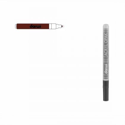 Коричнивый. Акриловый маркер DARWI Acryl Opak 1мм