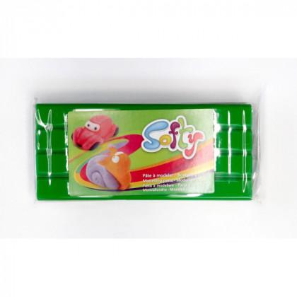 Пластилин SOFTY на восковой основе/ Зеленый 0,5 кг