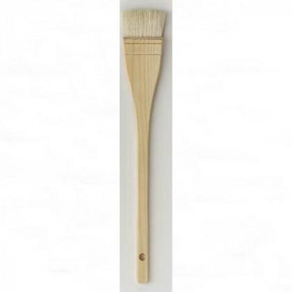 Кисть плоская Da Vinci 11245/отбеленная коза/в дерев. обойме/для нанесения шеллака/№3/80мм