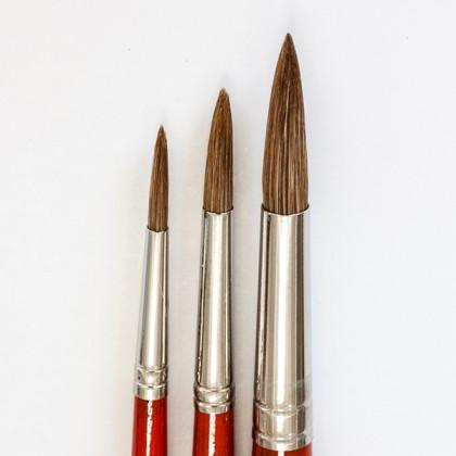 Окраш. ушной волос кругл  № 8 (длин. красн.ручка)