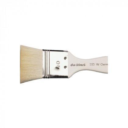 Кисть флейц Da Vinci 553/отбеленная коза/№80