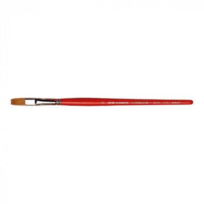 Синтетика плоская коричневая COSMOTOP-SPIN №12 /короткая красная ручка