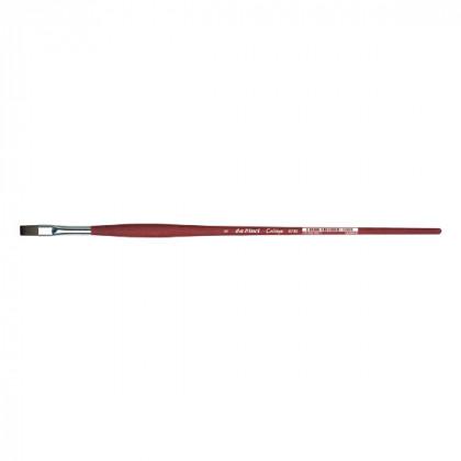 Синтетика плоская №4 /удлин. матовая бордовая ручка