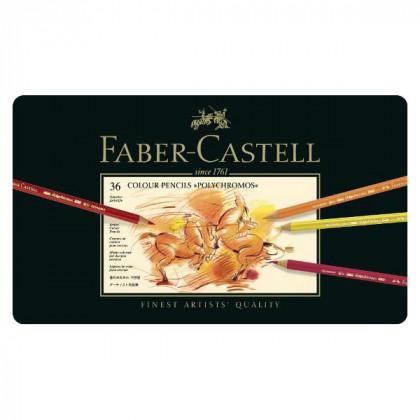 Набор цветн.карандашей Polychromos Faber Castell 36 цв.в метал.кор.