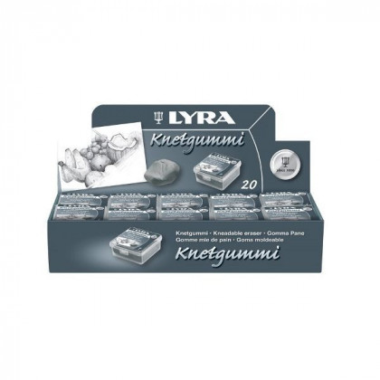 Ластик-клячка Lyra в пластиковом корпусе