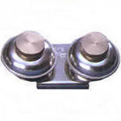 Масленка двойная.металл. с крышкой  d-4см.