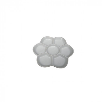 Палитра керамическая  круглая  7 ячеек/ D 11,5 см