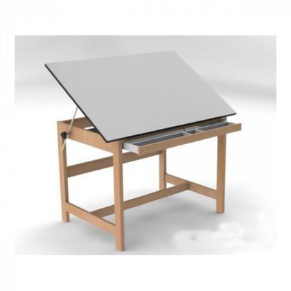 Стол деревян. для работы с наклон. плоск. и выдвижн.ящиком 130х90 см