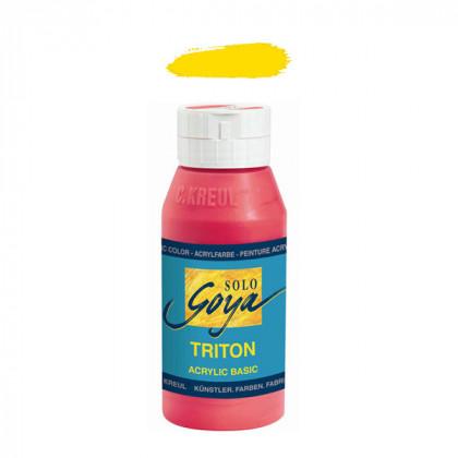 """Краска акриловая """"Solo Goya"""" Triton"""" / Жёлтый светлый основной, 750мл в пластиковой бутылке"""