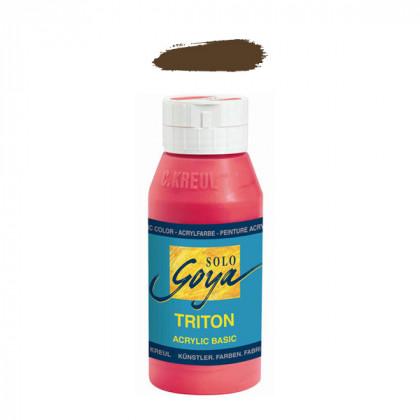 """Краска акриловая """"Solo Goya"""" Triton"""" / Коричневый, 750мл в пластиковой бутылке"""