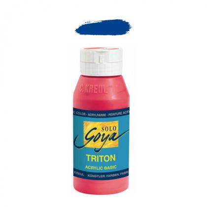 """Краска акриловая """"Solo Goya"""" Triton"""" / Ультрамарин, 750мл в пластиковой бутылке"""