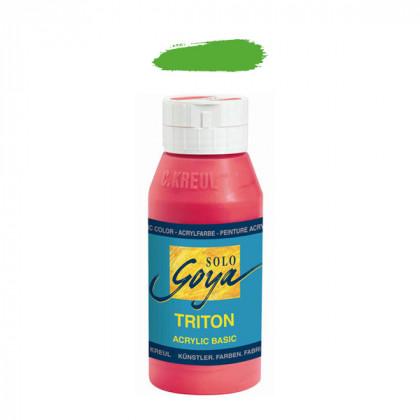"""Краска акриловая """"Solo Goya"""" Triton"""" / Желто-зеленый, 750мл в пластиковой бутылке"""