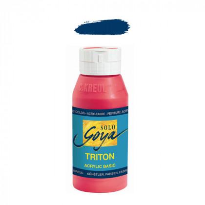"""Краска акриловая """"Solo Goya"""" Triton"""" / Синий темный, 750мл в пластиковой бутылке"""