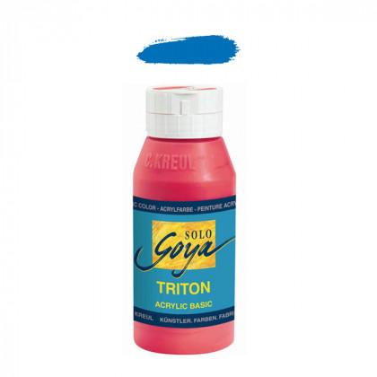 """Краска акриловая """"Solo Goya"""" Triton"""" / Синий стойкий, 750мл в пластиковой бутылке"""