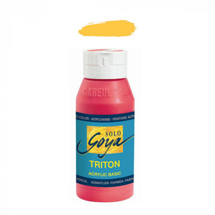"""Краска акриловая """"Solo Goya"""" Triton"""" / Кадмий жёлтый, 750мл в пластиковой бутылке"""