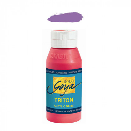 """Краска акриловая """"Solo Goya"""" Triton"""" /Ультрамариновая фиолетовая, 750мл в пластиковой бутылке"""
