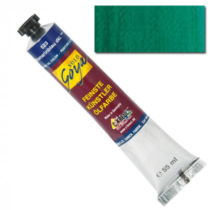 "Масляная краска ""Solo Goya"" виридоновый зеленый 55мл"