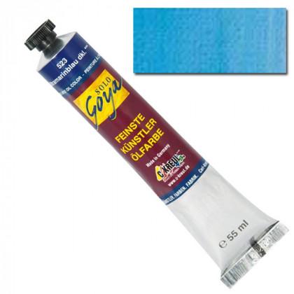"""Масляная краска """"Solo Goya"""" голубая лазурь 55мл"""
