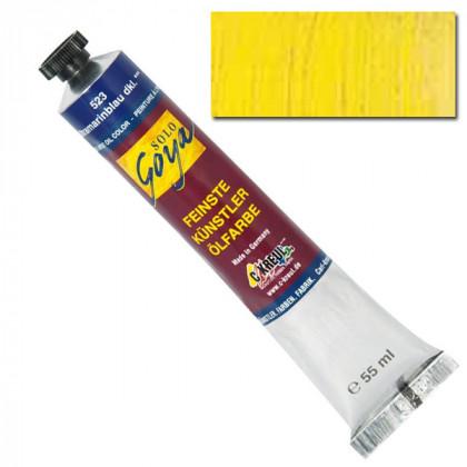 "Масляная краска ""Solo Goya"" кадмий желтый лимонный 55мл"