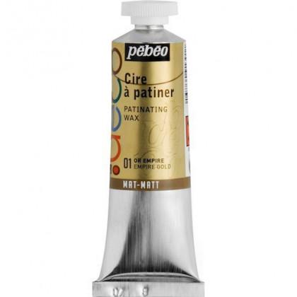 Металлическая краска-вакса Pebeo//Золото королевское/туба 37мл