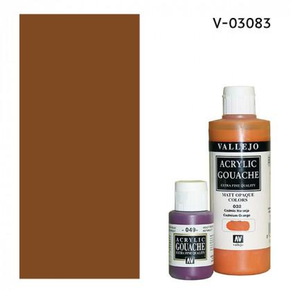 Гуашь-темпера Vallejo/Марс коричневый светлый