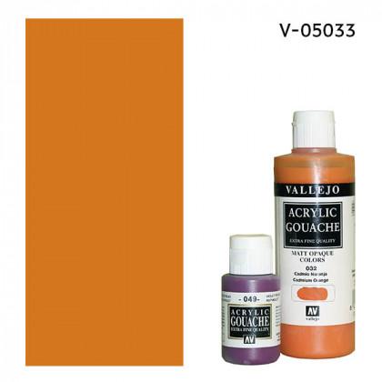 Гуашь-темпера Vallejo/Кадмий оранжевый светлый