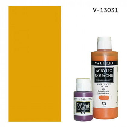 Гуашь-темпера Vallejo/Кадмий желтый темный