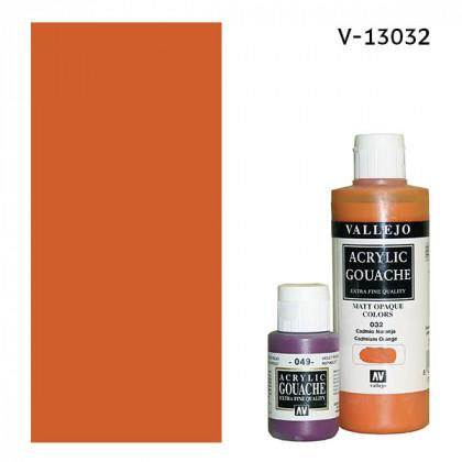 Гуашь-темпера Vallejo/Кадмий оранжевый