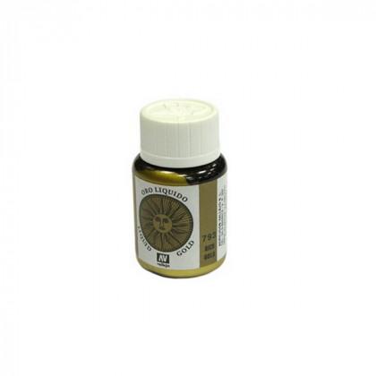 214.Краска металлическая лаковая Vallejio/Золото яркое