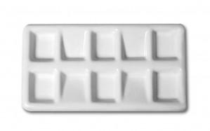 Палитра пластиковая плоская   7х13 см