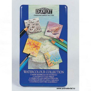 "Набор  ""Watercolour Collection"" /для акварели /12 шт в мет.кор."