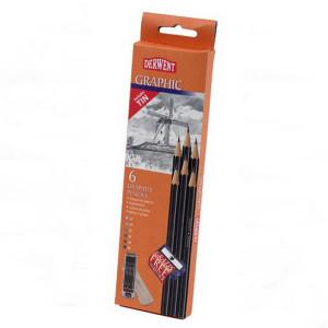 """Набор графит.карандашей """"Graphic"""" /6шт. в мет.кор."""
