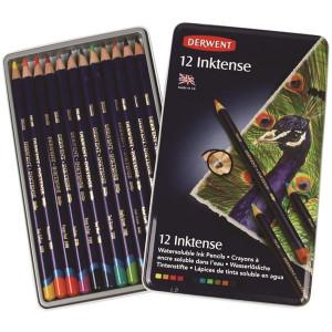 """Набор чернильных карандашей """"Inktense"""" /12цв в мет.кор."""