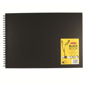 """Альбом Black Book для эскизов А3 """"Пейзаж""""/черн.бумага, спираль, 40 л./200 гр"""