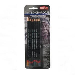 Набор  цветных угольных каранашей Tinted Charcoal /6шт в блистере