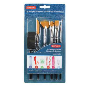 Набор  кистей Technique Brush Set для разлиных техник / 6 шт.